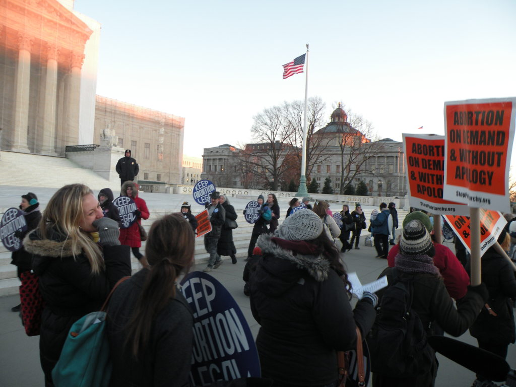 Roe v. Wade vigil January 22, 2013
