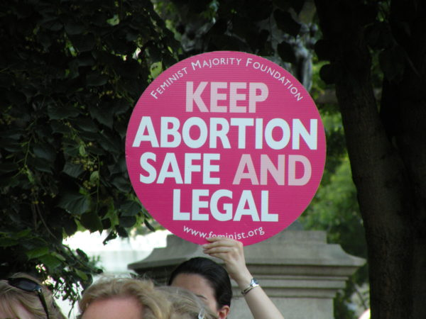 Keep Abortion Safe and Legal sign